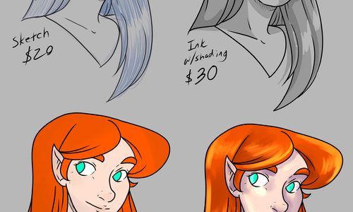 Character Bust drawings