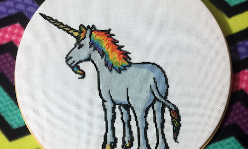 Rainbow Unicorn Cross Stitch Pattern