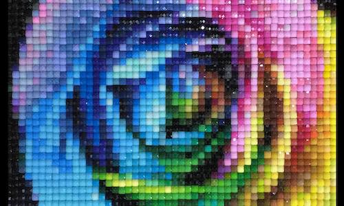 Pastel Rose Cross Stitch Pattern