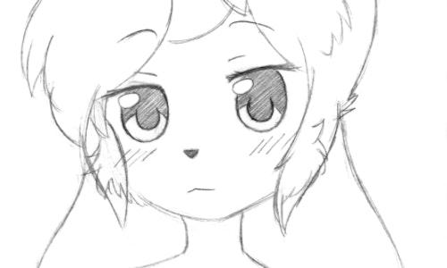 Anime Bust Sketch