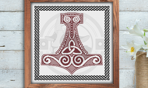 [CROSS STITCH PATTERN] Mjolnir