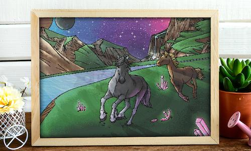 [CROSS STITCH PATTERN] Celesital Horses