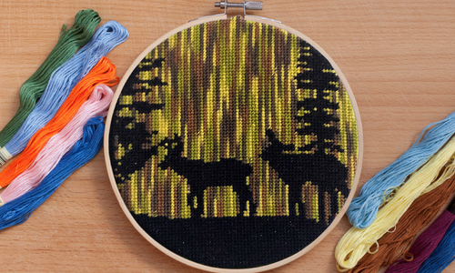 [CROSS STITCH PATTERN] Forest Deer