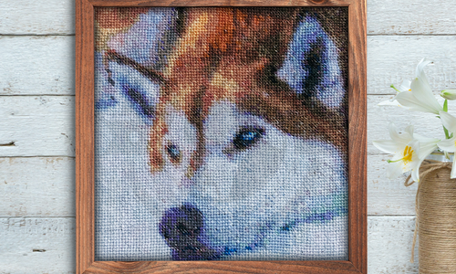 [CROSS STITCH PATTERN] Cinnamon Husky