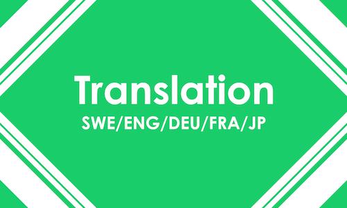 Translation SWE/ENG/DEU/FRA/JP