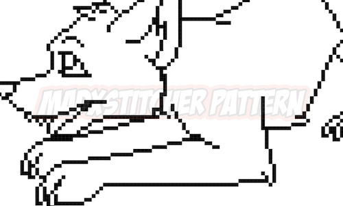 [CROSS STITCH COLOURING BOOK] Playful Pup Cross Stitch Pattern