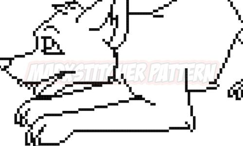 [CROSS STITCH COLOURING BOOK] Playful Pup Cross Stitch Pattern