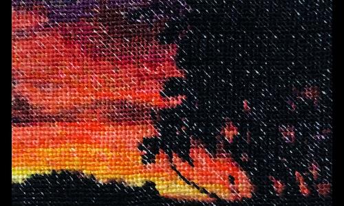 Palm Trees - Coss Stitch Pattern